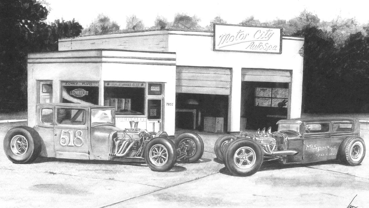 Auto Spa Sketches